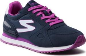 Fioletowe buty sportowe Sprandi z płaską podeszwą sznurowane