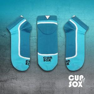 Niebieskie skarpety Cupofsox Women