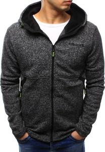 Dstreet bluza męska z kapturem grafitowa (bx3410)