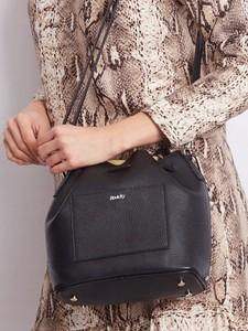 Czarna torebka Rovicky duża ze skóry w stylu glamour