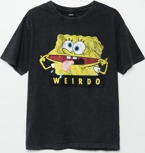 T-shirt Cropp z nadrukiem z krótkim rękawem