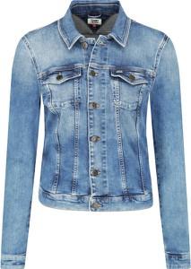 Niebieska kurtka Tommy Jeans w stylu casual krótka