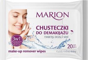 Marion, Make-up Remover Wipes, chusteczki do demakijażu twarzy oczu i szyi, 20 szt.