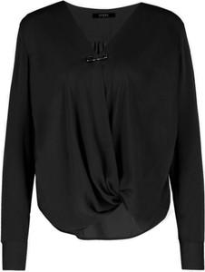 Czarna bluzka Guess Jeans z długim rękawem