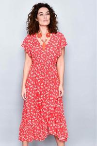 Sukienka H.H.G. z krótkim rękawem z dekoltem w kształcie litery v