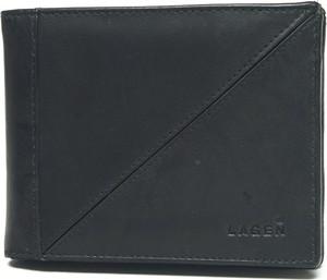 Czarny portfel męski Lagen ze skóry