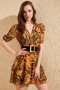 Brązowa sukienka Trendyol w stylu casual