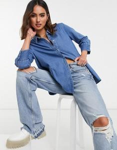 Niebieska koszula Only z długim rękawem z jeansu