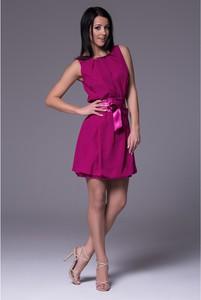 Sukienka Wox z satyny bombka mini