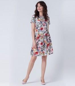 45be7db9dc Trapezowe sukienki w kwiaty