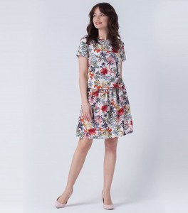 Sukienka butik-choice.pl midi z krótkim rękawem