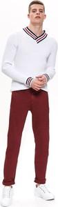 Czerwone spodnie Top Secret z tkaniny