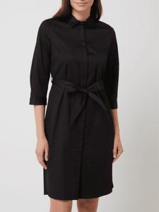 Sukienka S.Oliver Black Label z kołnierzykiem z długim rękawem z bawełny