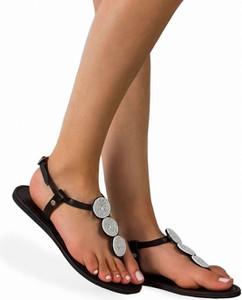 Czarne sandały Craftmano z klamrami z płaską podeszwą ze skóry