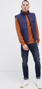 Brązowy sweter Wrangler z golfem w stylu casual