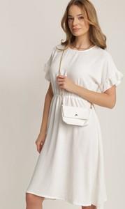 Sukienka Renee z okrągłym dekoltem mini z krótkim rękawem