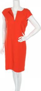Pomarańczowa sukienka Catherine Malandrino prosta z krótkim rękawem