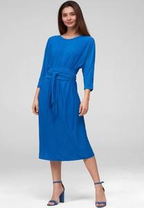 Niebieska sukienka ORSAY w stylu casual mini z okrągłym dekoltem