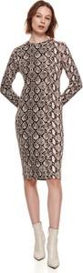 Sukienka Top Secret midi z okrągłym dekoltem koszulowa