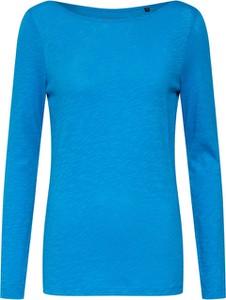 Niebieska bluzka Marc O'Polo w stylu casual z dżerseju z długim rękawem