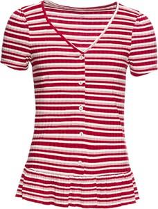 Czerwony t-shirt bonprix BODYFLIRT