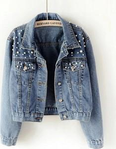 jeansowe kurtki z ćwiekami stylowo i modnie z Allani