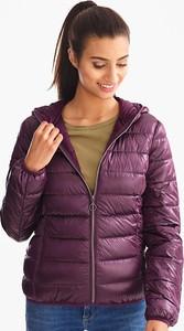 Różowa kurtka YESSICA w stylu casual krótka