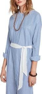 Niebieska sukienka Scotch & Soda z długim rękawem koszulowa w stylu klasycznym