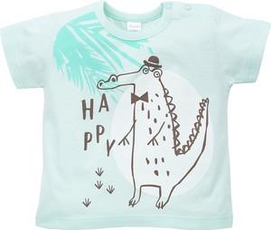 Miętowa koszulka dziecięca Malani z bawełny