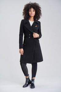 Czarny płaszcz Navahoo w stylu casual