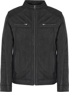 Czarna kurtka Ochnik w stylu casual krótka z bawełny