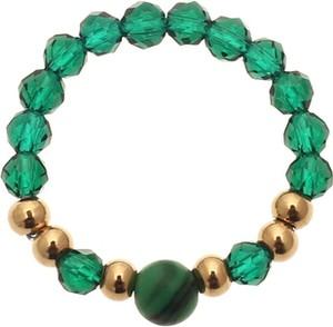Vezzi Pierścionek kryształki, zielonyS4V70357-Z