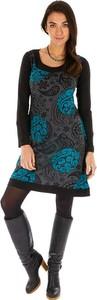 Sukienka Aller Simplement z długim rękawem mini w stylu casual