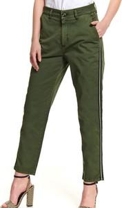 Zielone spodnie Top Secret w stylu klasycznym