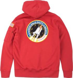 Czerwona bluza Alpha Industries z nadrukiem