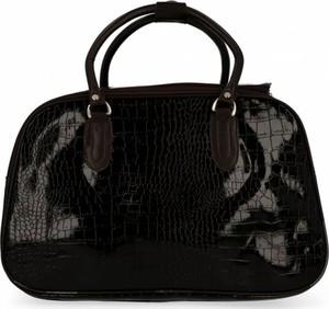 Czarna torebka Or&mi lakierowana w stylu glamour