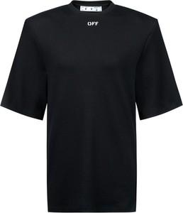 Czarny t-shirt Off White z okrągłym dekoltem