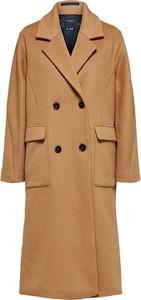 Brązowy płaszcz Selected Femme z bawełny