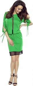Sukienka Bergamo z okrągłym dekoltem mini w stylu casual