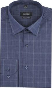 Niebieska koszula Recman z klasycznym kołnierzykiem