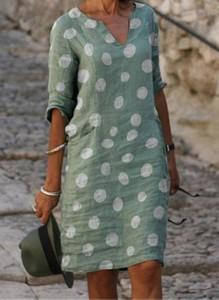 Sukienka Cikelly mini z długim rękawem z dekoltem w kształcie litery v