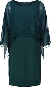 Sukienka Vera Mont mini prosta z okrągłym dekoltem