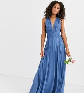 Niebieska sukienka Asos maxi