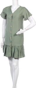 Sukienka Gts z krótkim rękawem mini w stylu casual