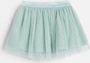 Miętowa spódniczka dziewczęca Reserved z tiulu