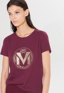 T-shirt Mohito z krótkim rękawem z bawełny w młodzieżowym stylu
