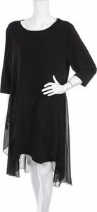 Czarna sukienka Navigazione mini z okrągłym dekoltem w stylu casual