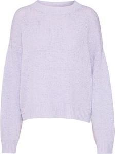 Fioletowy sweter EDITED z bawełny w stylu casual