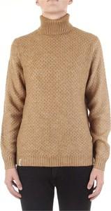 Brązowy sweter Fred Mello z wełny