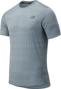 T-shirt New Balance z dzianiny w sportowym stylu z krótkim rękawem